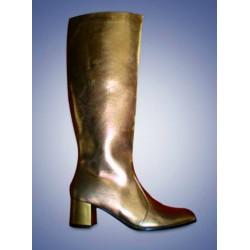 Gouden dames laarzen