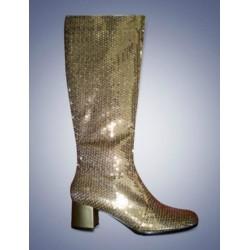 Gouden glitter laarzen dames