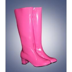 Fluor roze dames laarzen