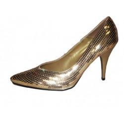 Schoenen pumps glitter goud