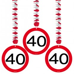 Hangdecoratie verkeersbord 40