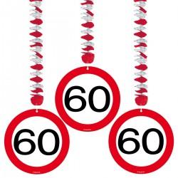 Hangdecoratie verkeersbord 60