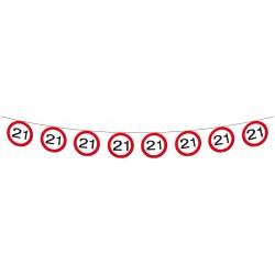 Vlaggenlijn verkeersbord 21