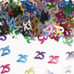 Tafeldecoratie / confetti 25