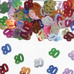 Tafeldecoratie / confetti 80