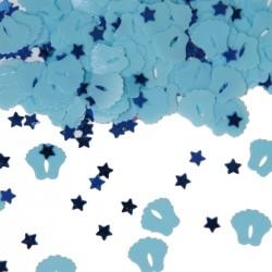 Tafeldecoratie / confetti voetjes blauw