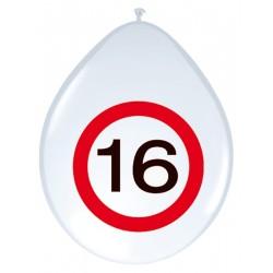 Ballonnen verkeersbord 16