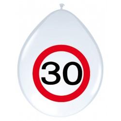 Ballonnen verkeersbord 30