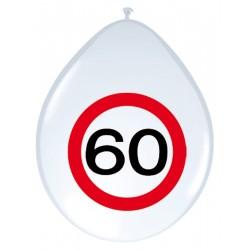 Ballonnen verkeersbord 60