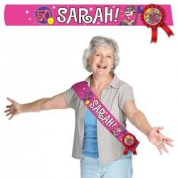 Sjerp met rozet Sarah