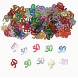 Tafeldecoratie / confetti 50