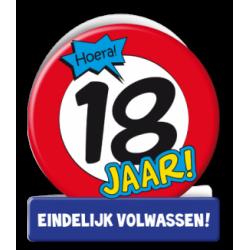 Wenskaart verkeersbord 18 jaar