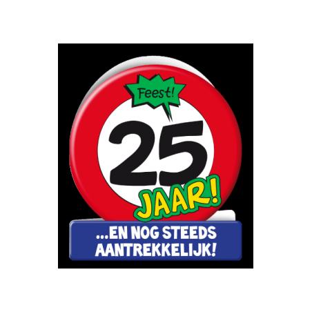 Wenskaart verkeersbord 25 jaar