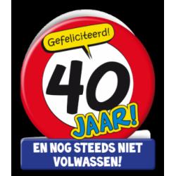Wenskaart verkeersbord 40 jaar
