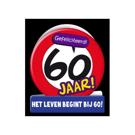 Wenskaart verkeersbord 60 jaar