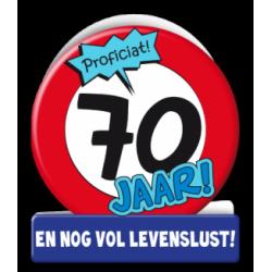 Wenskaart verkeersbord 70 jaar