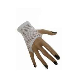 Nethandschoenen kort vingerloos wit