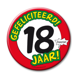 XL Button - 18 jaar