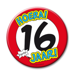 XL Button - 16 jaar