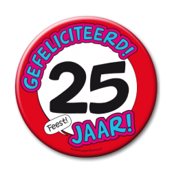 XL Button - 25 jaar