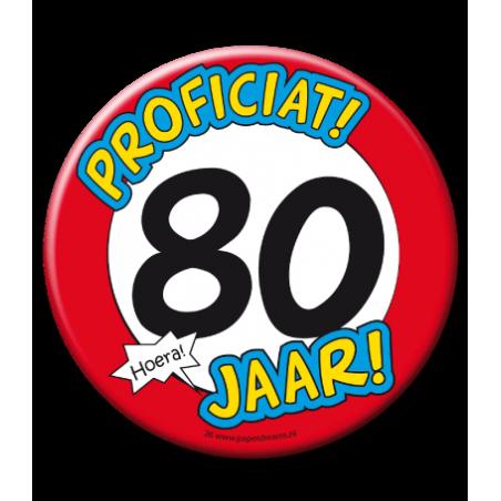 XL Button - 80 jaar