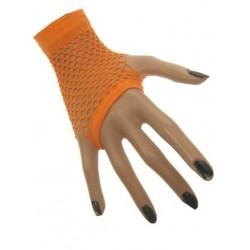 Nethandschoenen kort vingerloos fluor oranje