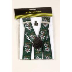 Bretels Edelweis Tirol groen