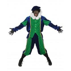 Zwarte Piet kostuum volwassen groen zwart