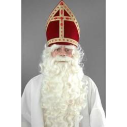 Baardstel Sinterklaas rechte snor luxe