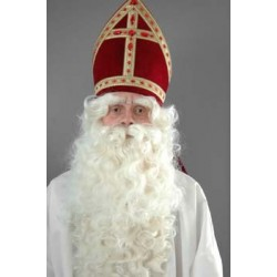 Baardstel Sinterklaas krulsnor luxe