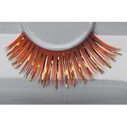 Wimpers 230 oranje met glitters