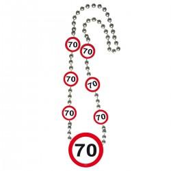Ketting verkeersbord 70
