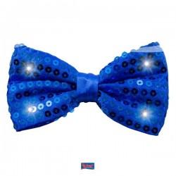 Strikje blauw met LED