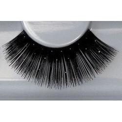 Wimpers 326 zwart met glitters
