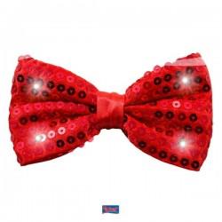 Vlinderstrik rood met LED licht