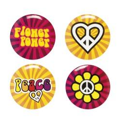 Buttons hippie
