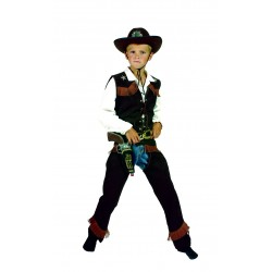 Cowboy gilet en chaps donkerbruin