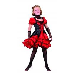 Can can jurk zwart rood