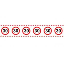 Afzetlint verkeersbord 30 jaar