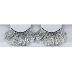 Wimpers 157 glitter zilver