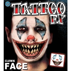 Face tattoo clown