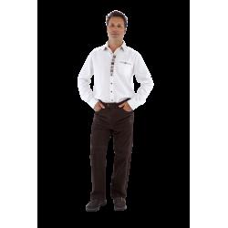 Overhemd Tirol wit/beige