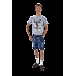 T-shirt Tirol heer grijs met hert