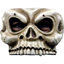 Halfmasker latex skull