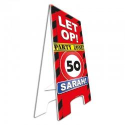 Warning Sign 5o jaar Sarah