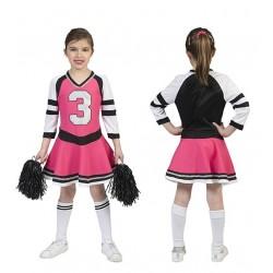 Jurk Cheerleader roze