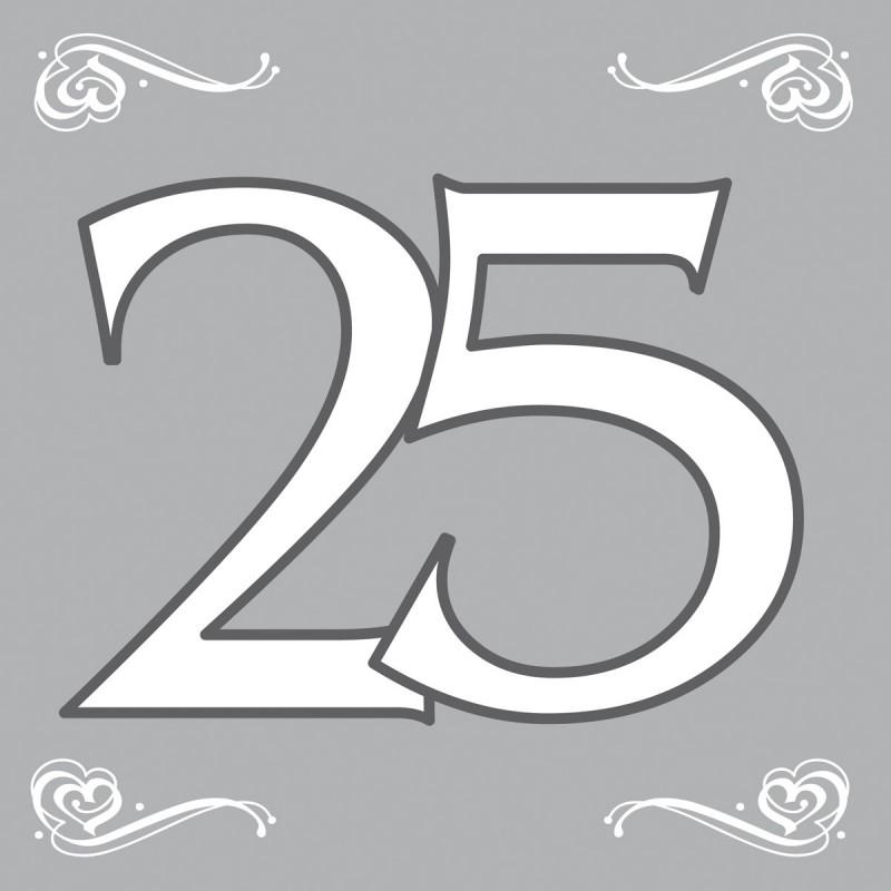 Servetten zilver 25