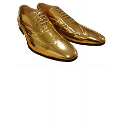Schoenen goud met veters