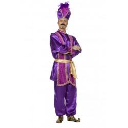 Kostuum Sultan paars