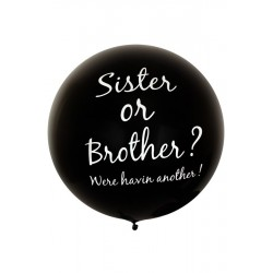Mega ballon Sister or Brother